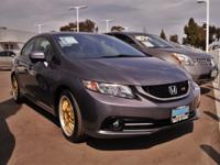 Clean CARFAX. Gray 2015 Honda Civic Si FWD Close-Ratio