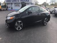 Black 2015 Honda Civic Si FWD Close-Ratio 6-Speed