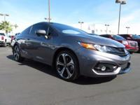 Come see this 2015 Honda Civic Coupe Si. Its Manual