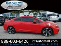 CARFAX One-Owner. Red 2015 Honda Civic Si FWD