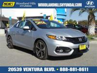 Options:  2015 Honda Civic Coupe Si|Silver/Black/Red|V4