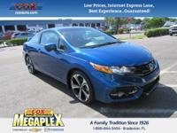 NEW TIRES! This 2015 Honda Civic Si in Dyno Blue Pearl