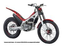 Motorcycles Trial 1517 PSN . the 4-piston front brake