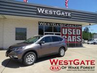 CARFAX One-Owner. Clean CARFAX. Grey 2015 Honda CR-V EX