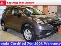 2015 Honda CR-V LX Gray Bluetooth, Hands free calling,