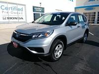 Step into the 2015 Honda CR-V! The safety you need and