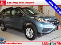 2015 Honda CR-V LX Mountain Air Metallic Bluetooth,