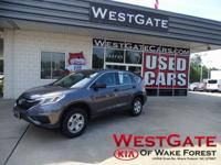 CARFAX One-Owner. Clean CARFAX. Grey 2015 Honda CR-V LX