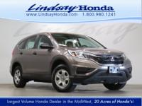 OVERVIEW This 2015 Honda CR-V 4dr AWD 5dr LX features a