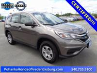 This 2015 CR-V is a one owner vehicle with a clean