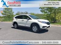 New Price! White 2015 Honda CR-V LX AWD CVT 2.4L I4