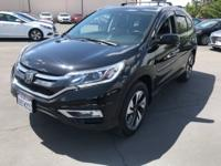 2015 Honda CR-V Touring CARFAX One-Owner. Clean CARFAX.