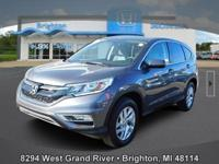 Options:  2015 Honda Cr-V Ex|Gray|New Price! Carfax