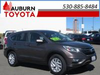 LOW MILEAGE, ONE OWNER, BLUETOOTH! This 2015 Honda CR-V