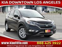 CARFAX One-Owner. Clean CARFAX. Black 2015 Honda CR-V