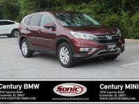 1 Owner, Clean Carfax! This 2015 Honda CR-V EX 2WD is