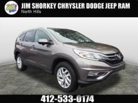 2015 Honda CR-V EX-L New Price! CARFAX One-Owner. Clean