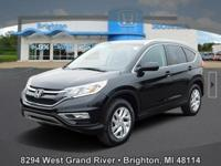 Options:  2015 Honda Cr-V Ex-L|Black|Carfax One-Owner.