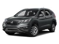 Clean CARFAX. White Diamond Pearl 2015 Honda CR-V EX-L