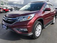 CARFAX One-Owner. 2015 Honda CR-V EX-L Red One Owner,