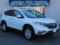 AWD. Certified. White Diamond Pearl 2015 Honda CR-V