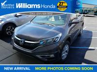 Options:  2015 Honda Cr-V Ex-L|Awd|Abs Brakes|Am/Fm