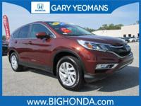 This 2015 Honda CR-V Includes. CLEAN CARFAX NO
