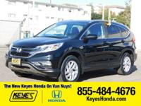 Options:  2015 Honda Cr-V Ex-L|Black/Black|V4 2.4 L