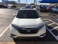 We are excited to offer this 2015 Honda CR-V. When you