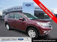 CARFAX One-Owner. Clean CARFAX. Red 2015 Honda CR-V EX