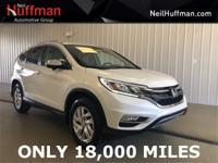 New Price! White Diamond Pearl 2015 Honda CR-V EX-L FWD