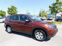 CARFAX One-Owner. Clean CARFAX. RED 2015 Honda CR-V LX