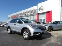 CARFAX One-Owner. Clean CARFAX. Silver 2015 Honda CR-V