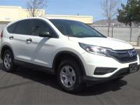 Diamond White Pearl 2015 Honda CR-V LX AWD CVT 2.4L I4