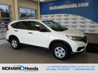 Recent Arrival! This 2015 Honda CR-V LX in White