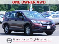 Clean CARFAX. CARFAX One-Owner.   CR-V LX AWD, 4D Sport