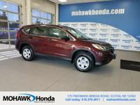 Recent Arrival! This 2015 Honda CR-V LX in Basque Red