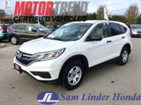 Options:  2015 Honda Cr-V Lx 2Wd|Advertised Price