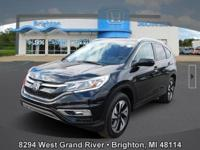 Options:  2015 Honda Cr-V Touring|Black|Carfax