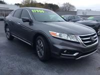 CARFAX One-Owner. Gray 2015 Honda Crosstour EX FWD