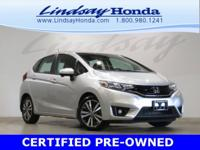 Certified. Alabaster Silver Metallic 2015 Honda Fit EX