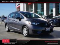 CARFAX One-Owner. Clean CARFAX. Gray 2015 Honda Fit LX