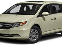 The Honda Odyssey has a wide, low stance with a modern