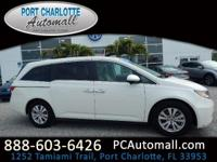 CARFAX One-Owner. Certified. White 2015 Honda Odyssey