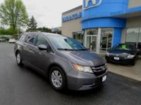 Honda Certified, Odyssey EX-L, Leather, Rear AC, Eight