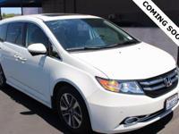 White Diamond Pearl 2015 Honda Odyssey Touring FWD