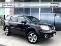 CARFAX One-Owner. Clean CARFAX. Black 2015 Honda Pilot