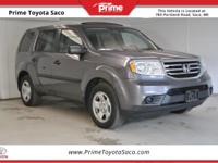 CARFAX One-Owner! 2015 Honda Pilot LX in Silver! With