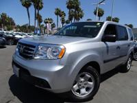 Options:  2015 Honda Pilot Lx|Silver|Honda Certified.