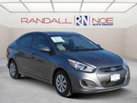 Clean CARFAX. Gray 2015 Hyundai Accent GLS FWD 6-Speed